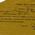 Permission for Confederate soldier